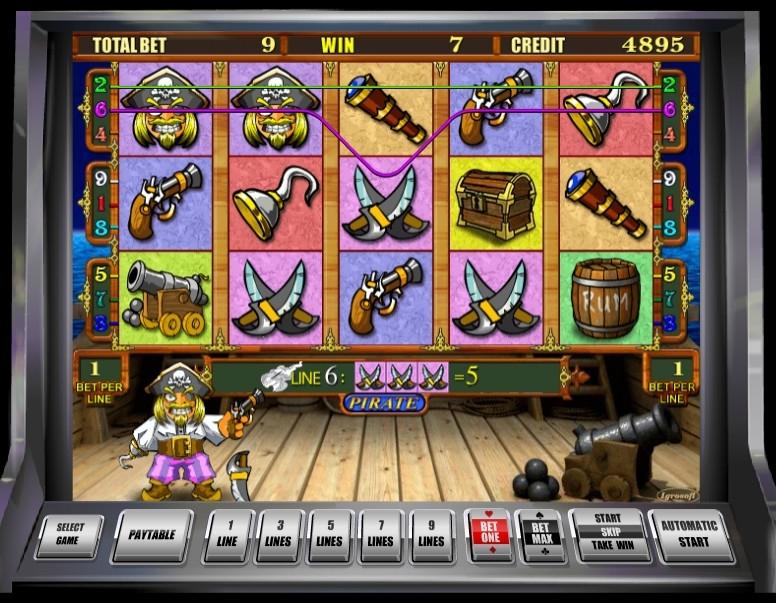 аппараты онлайн пират игровые