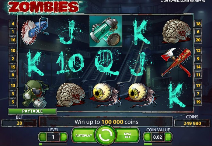 игровой автомат zombies от netent